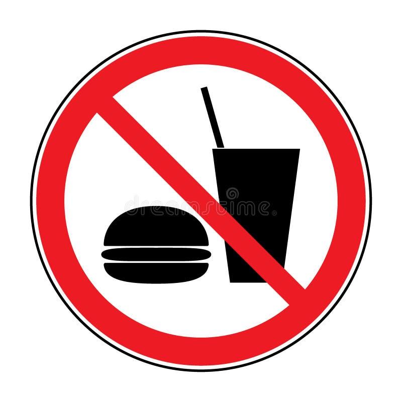 Żadny napój i jedzenie ilustracji