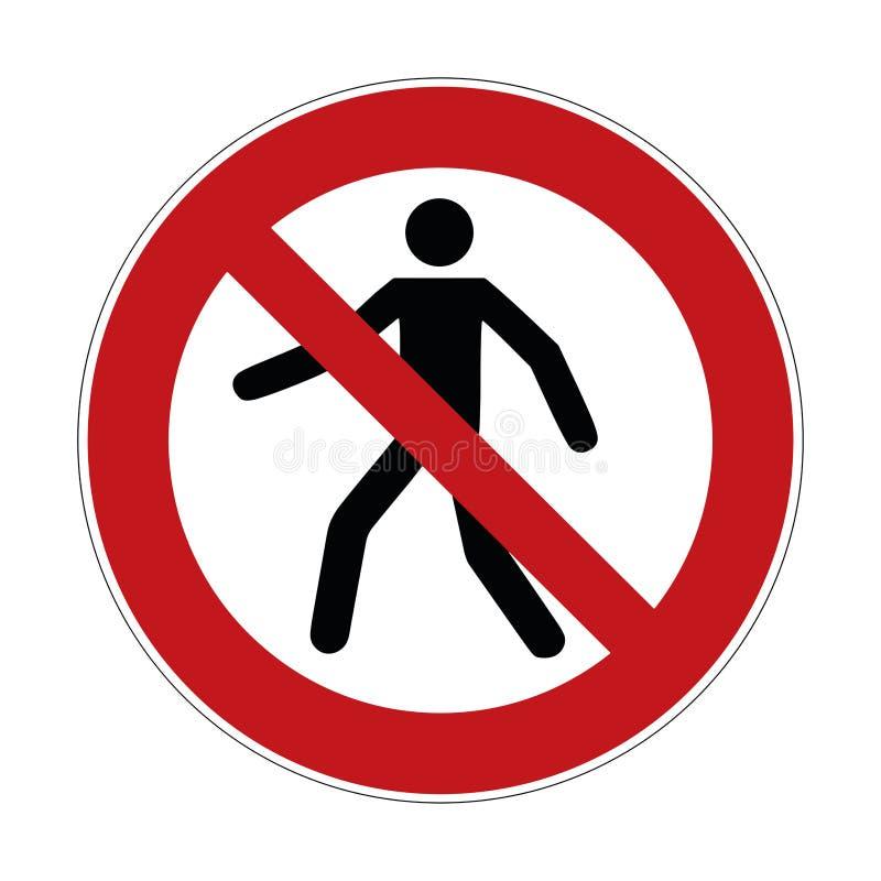 Żadny naruszenie własności znak, krzyżuje zakazującego znaka - wektorowa ilustracja ilustracja wektor