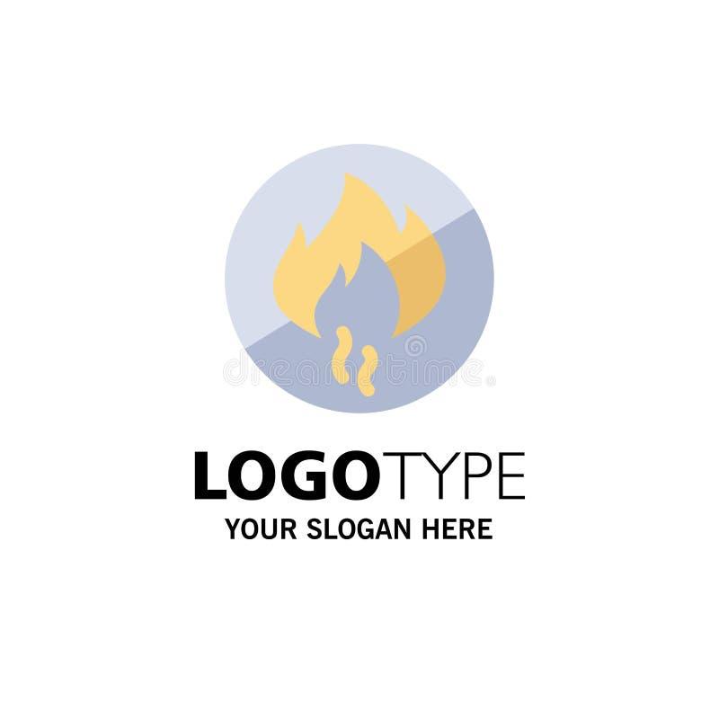 Żadny ogień, Nie, ogień, budowa biznesu logo szablon p?aski kolor ilustracji
