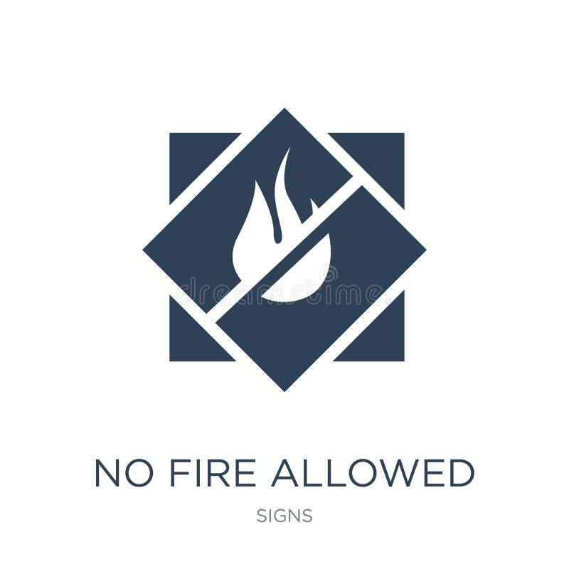 żadny ogień pozwolił ikonę w modnym projekta stylu żadny ogień pozwolił ikonę odizolowywającą na białym tle żadny ogień pozwolić  ilustracji