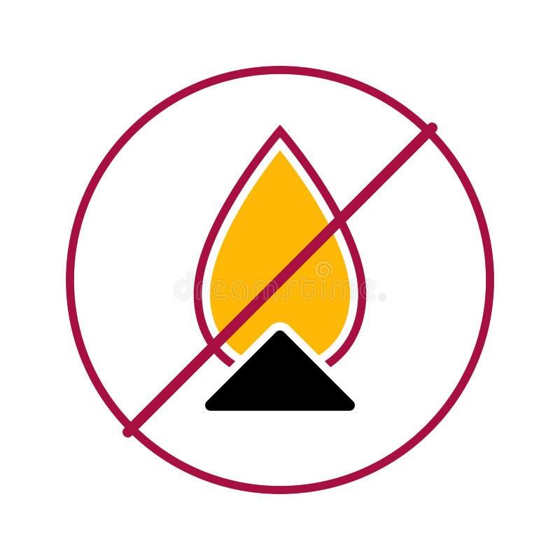 Żadny płonący ogień 2 ilustracja wektor