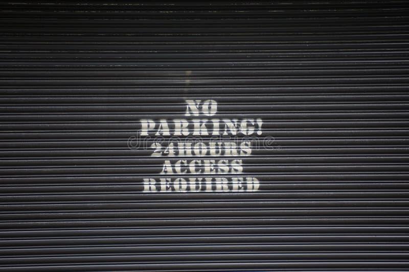 żadny parking zdjęcie stock