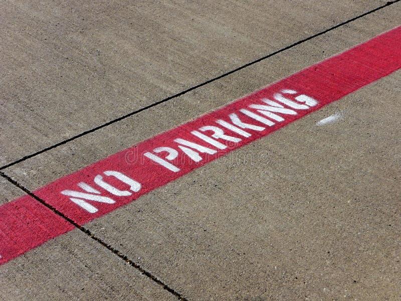 żadny parking obrazy stock