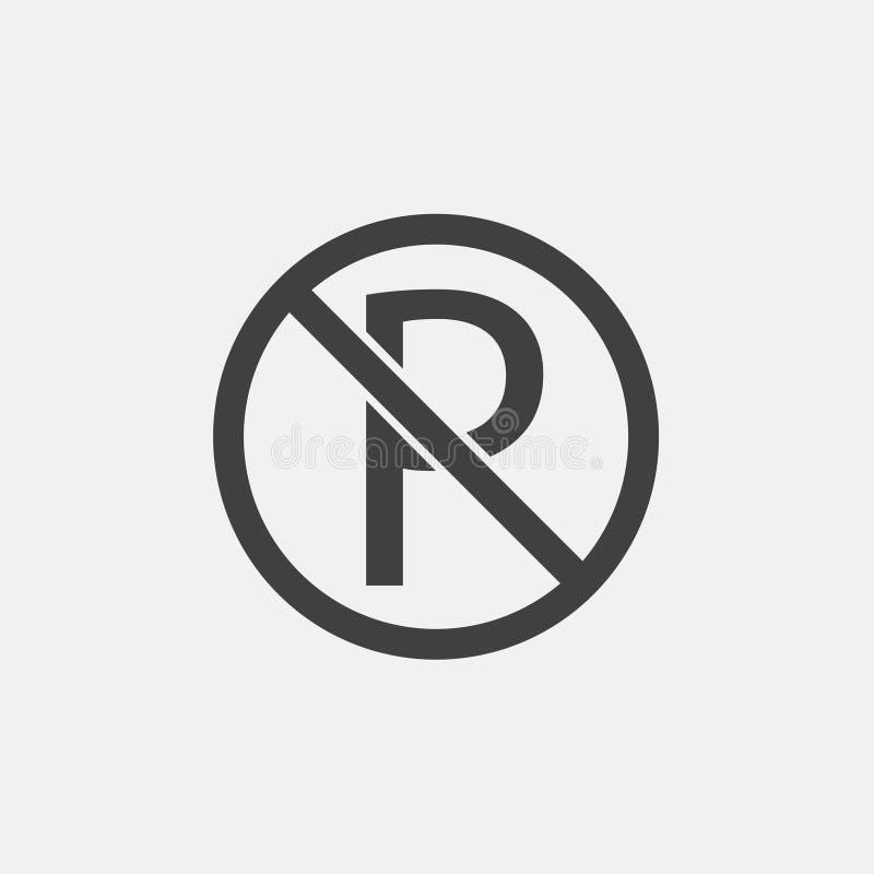 Żadny parking ikona ilustracji