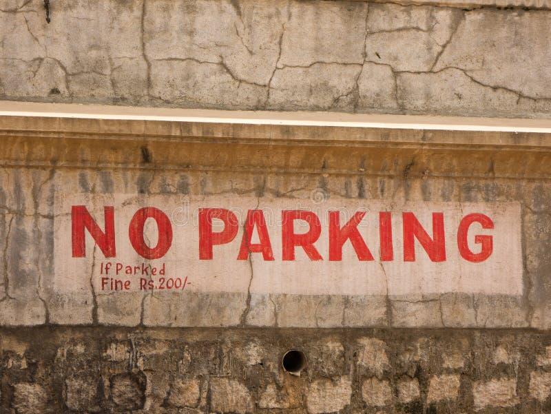 Żadny parking podpisuje wewnątrz miasto Mysore zdjęcie royalty free