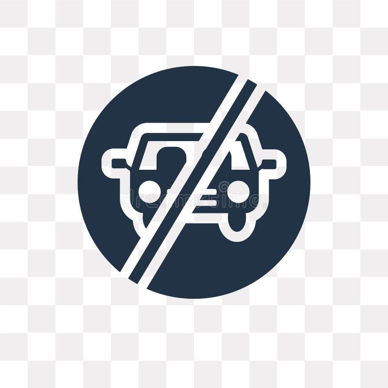 Żadny parking wektorowa ikona odizolowywająca na przejrzystym tle, Żadny pa ilustracja wektor