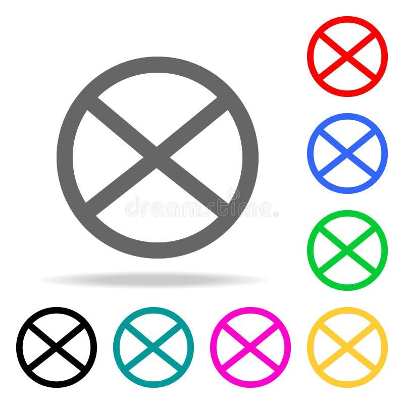 Żadny powstrzymywania i parking szyldowa ikona Elementy w wielo- barwionych ikonach dla mobilnych pojęcia i sieci apps Ikony dla  royalty ilustracja