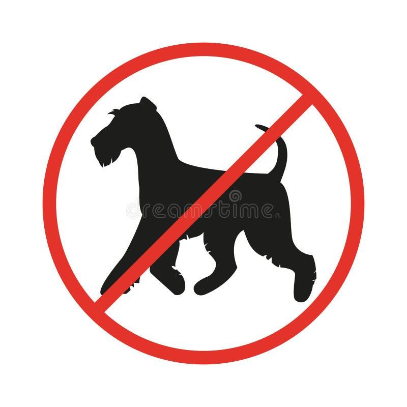 Żadny psa znak na białym tle royalty ilustracja