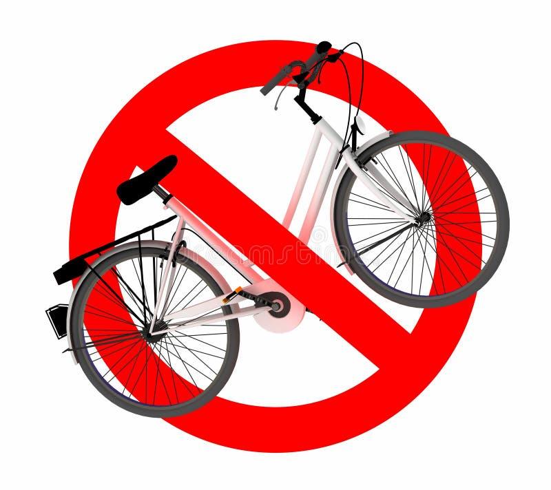 Żadny rowerowego ruchu drogowego znak royalty ilustracja