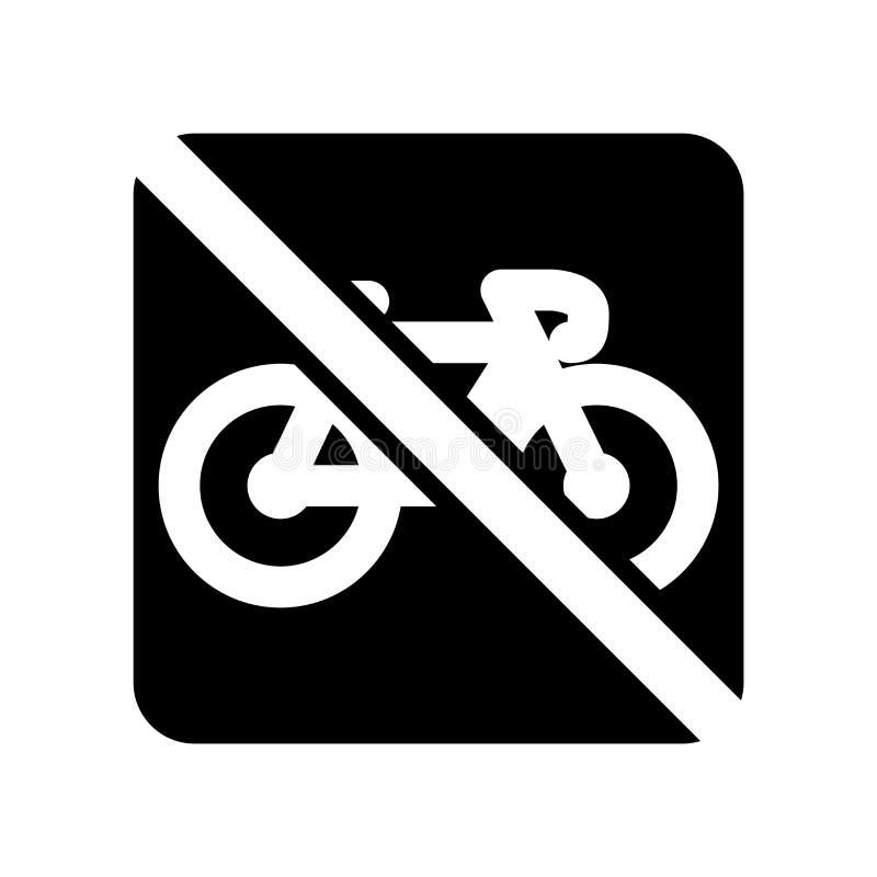 Żadny rowerowy ikona wektor odizolowywający na białym tle, Żadny rowerowy znak ilustracja wektor