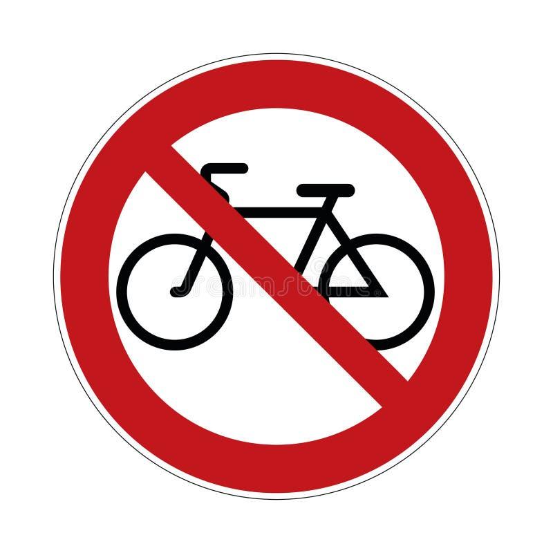 Żadny rowerowy znak - rowery zakazujący znaki, wektorowa ilustracja ilustracja wektor