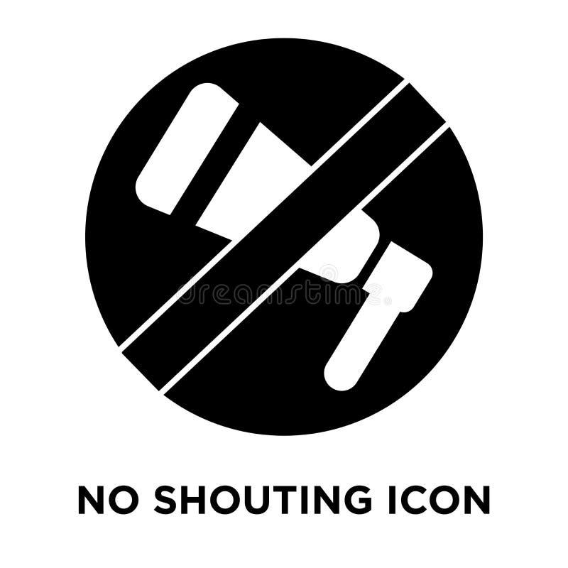 Żadny rozkrzyczany ikona wektor odizolowywający na białym tle, loga conce ilustracji