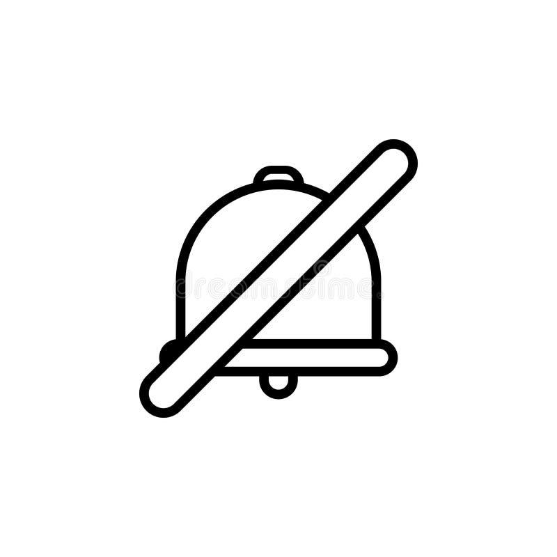 Żadny rozsądna ikona Element minimalistic ikony dla mobilnych pojęcia i sieci apps Cienka kreskowa ikona dla strona internetowa p royalty ilustracja