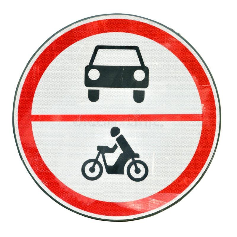 Żadny ruchu drogowego znak Niedozwolony Czerwony drogowy znak obraz royalty free