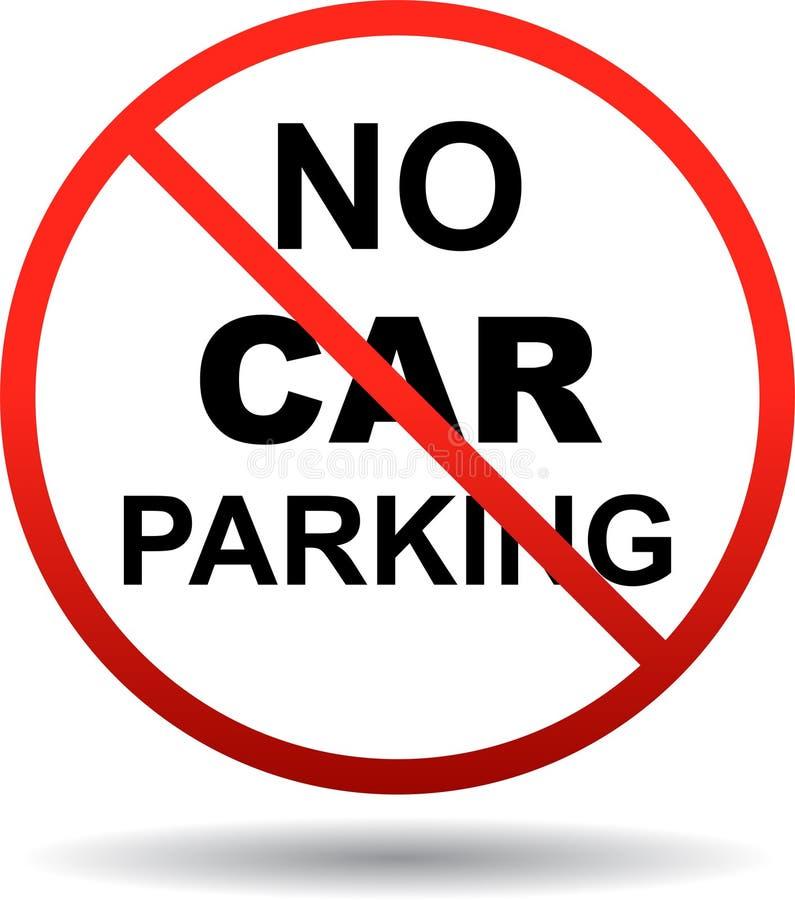 Żadny samochodowy parking ruchu drogowego znak royalty ilustracja