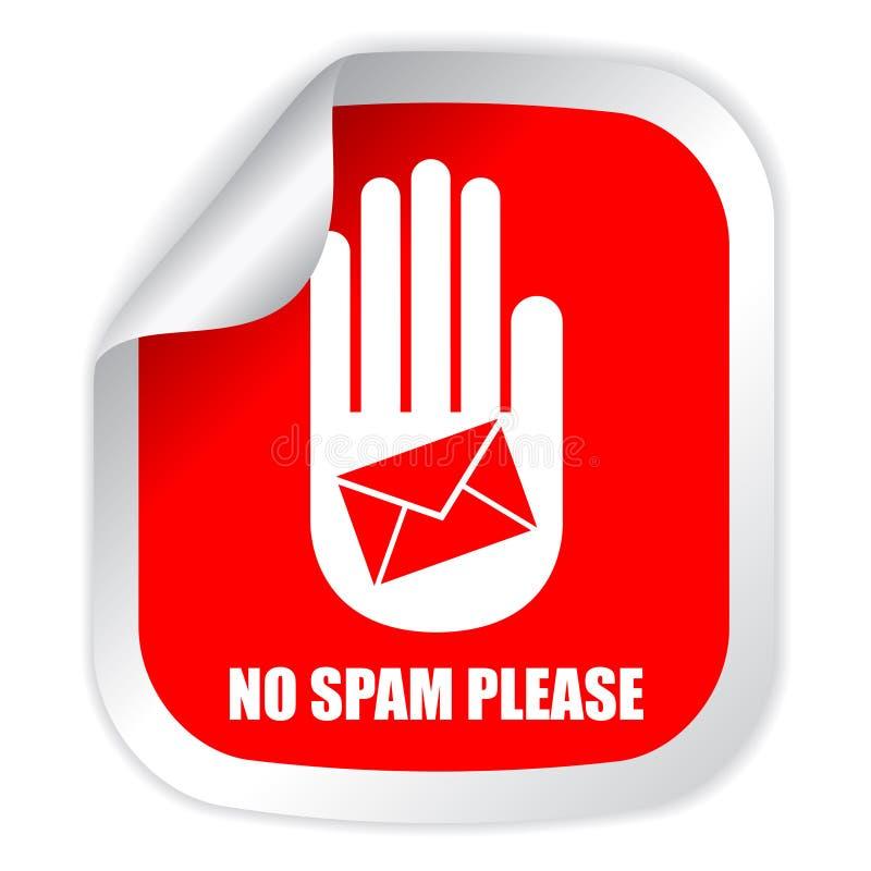 Żadny spam zadawala ilustracja wektor
