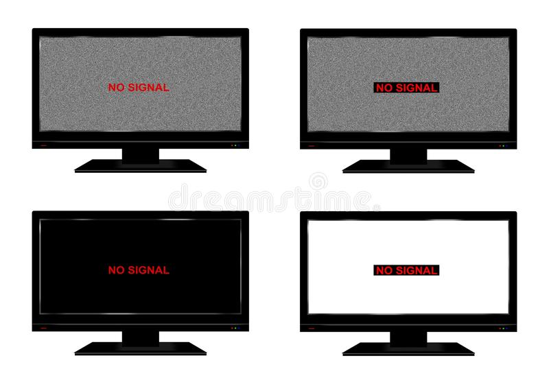 żadny sygnał tv ilustracji