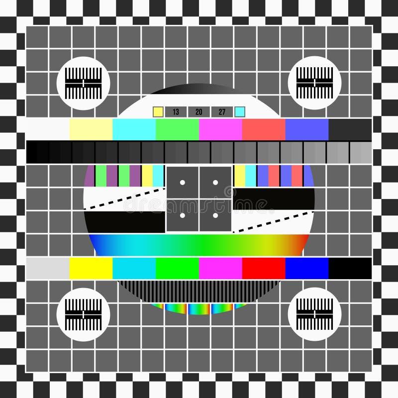 Żadny sygnału TV ekranu szablon ilustracja wektor