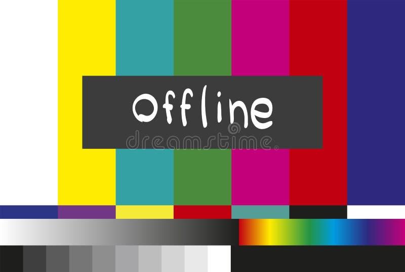 Żadny sygnału TV próbnego wzoru tło Żyje strumienia autonomicznego ilustracji