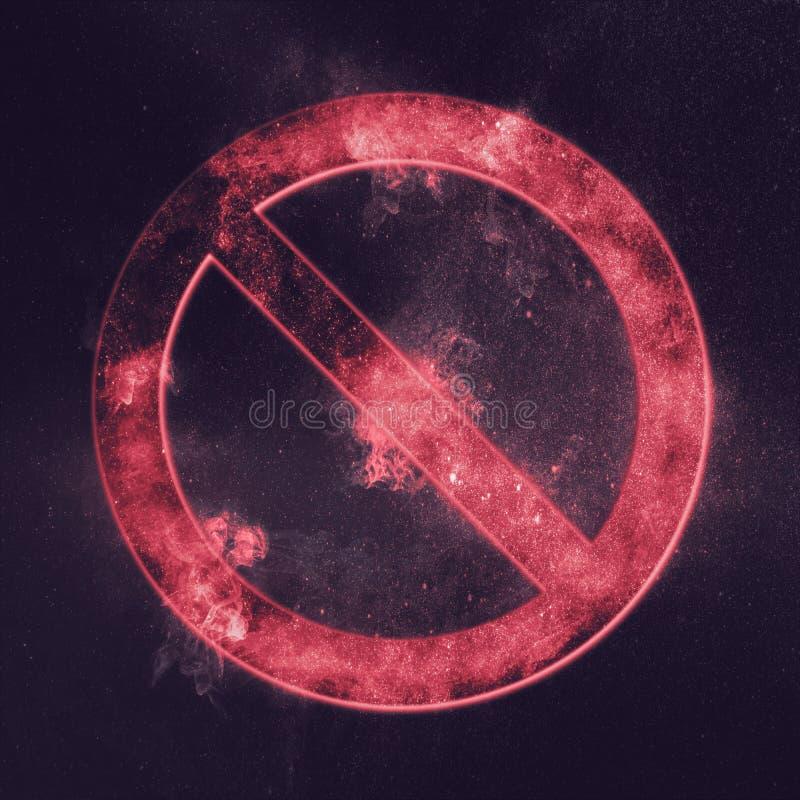 żadny symbol ani śladu Abstrakcjonistyczny nocnego nieba tło ilustracja wektor