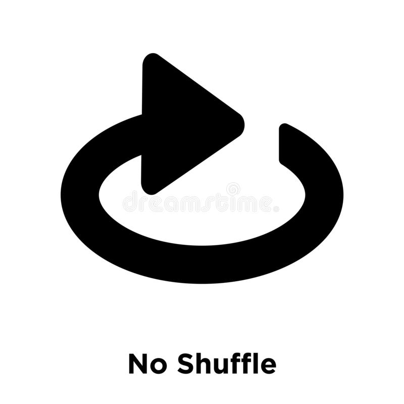 Żadny tasowanie ikony wektor odizolowywający na białym tle, loga concep royalty ilustracja