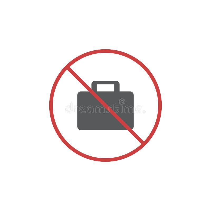 Żadny teczki mieszkania ikona ilustracja wektor