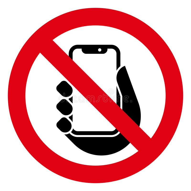 Żadny telefon ikona royalty ilustracja
