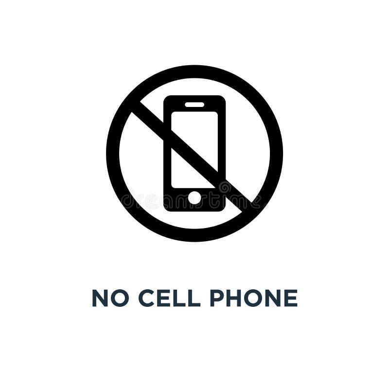 Żadny telefon komórkowy ikona Prosta element ilustracja Żadny telefon komórkowy c royalty ilustracja