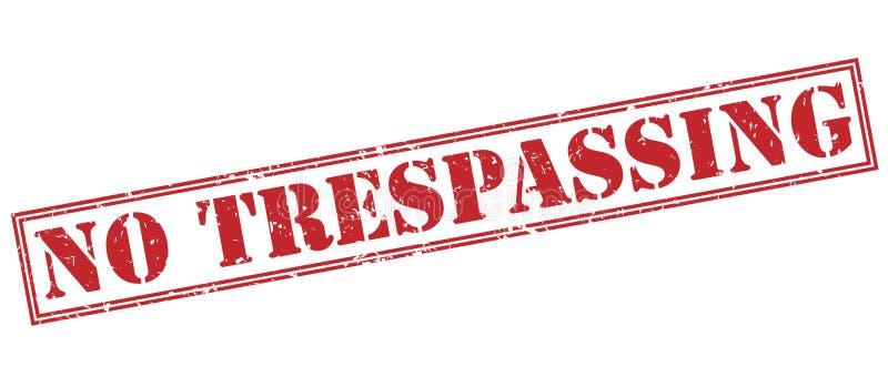 Żadny trespassing czerwień znaczek royalty ilustracja