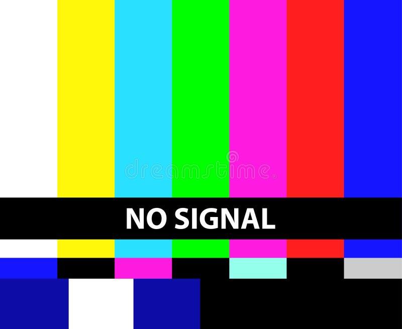 Żadny TV sygnał royalty ilustracja