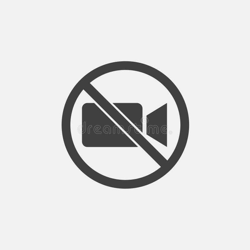 Żadny wideo ikona ilustracji
