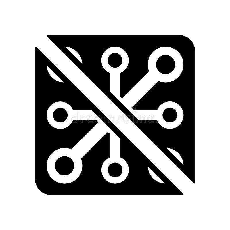Żadny wirusowy ikona wektor odizolowywający na białym tle, Żadny wirusowy znak ilustracja wektor