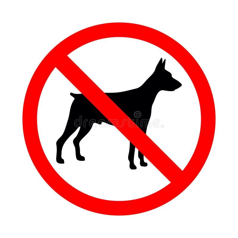 Żadny zwierzęcy znak Zabroniony znak dla żadny psów royalty ilustracja