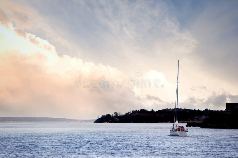 żagiel mała łódź obraz royalty free