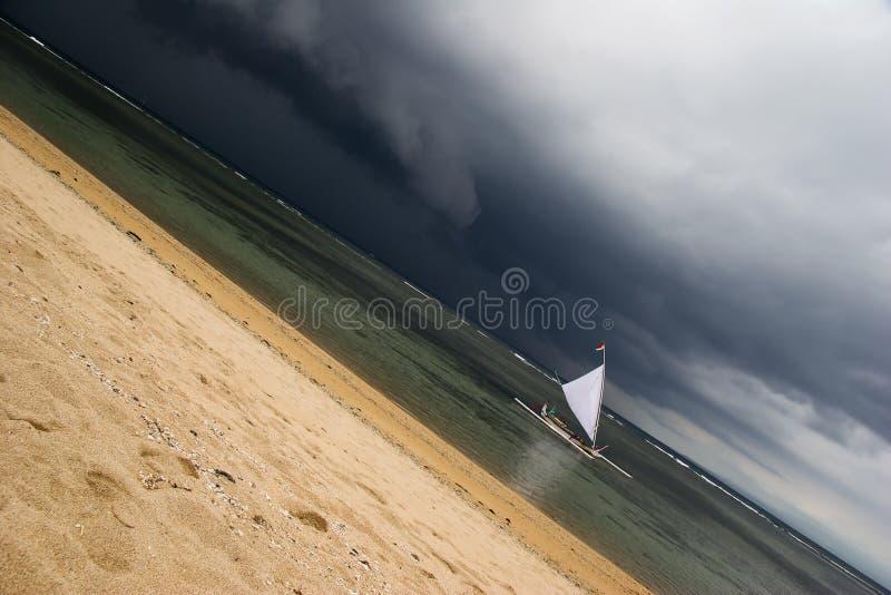 żagiel zły diagonalna pogoda fotografia stock
