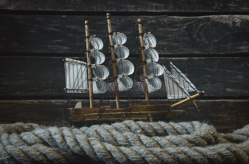 Żaglówka i cumownicza arkana obraz stock