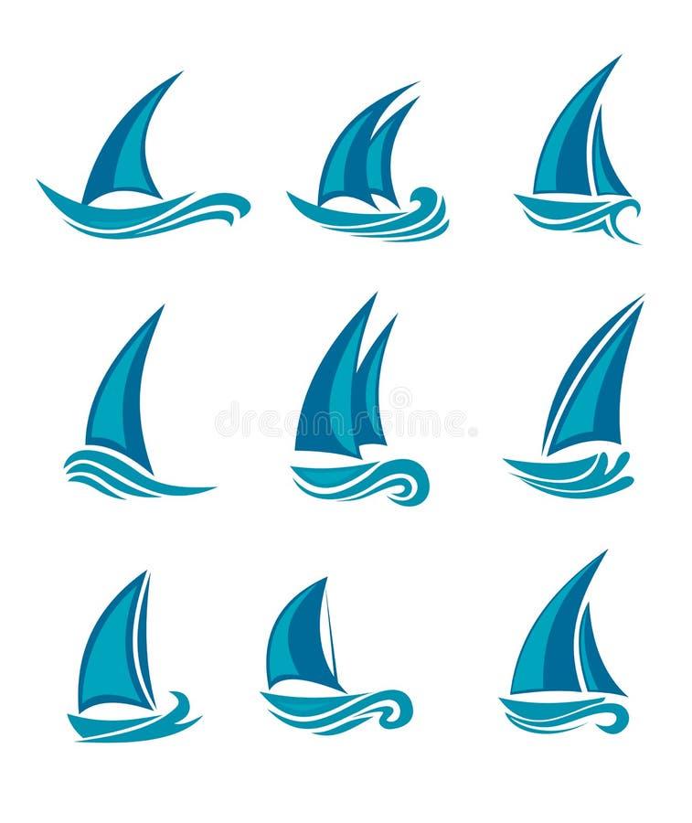 żaglówka jachty ilustracji