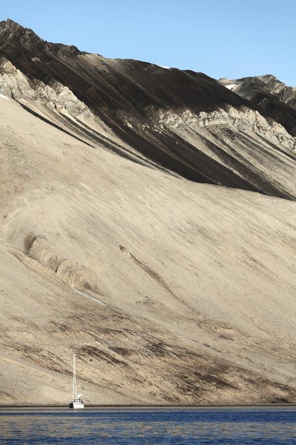 żaglówki Svalbard trygghamna obrazy stock