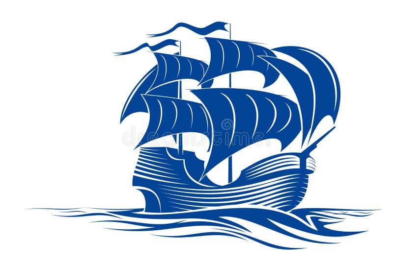 żagla statek ilustracja wektor
