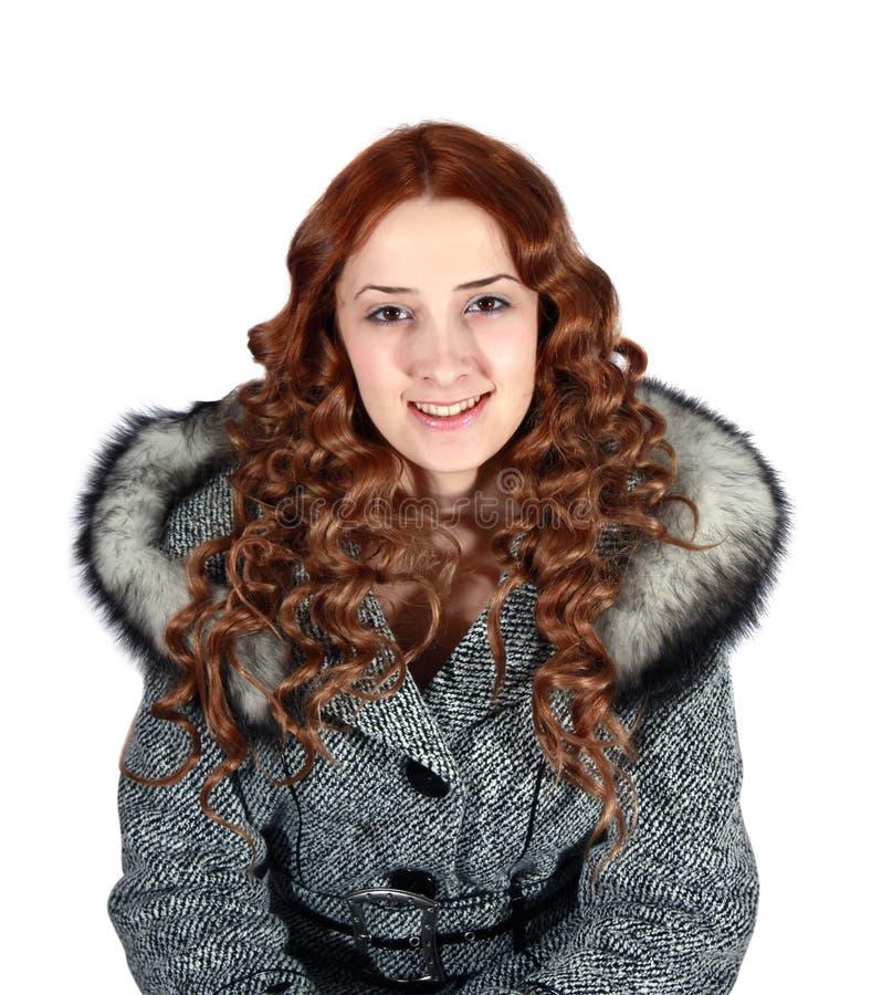 żakiet dziewczyny szarość portret obrazy royalty free