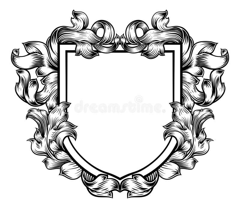 Żakiet ręka grzebienia Rodzinnego rycerza Heraldyczna osłona ilustracja wektor