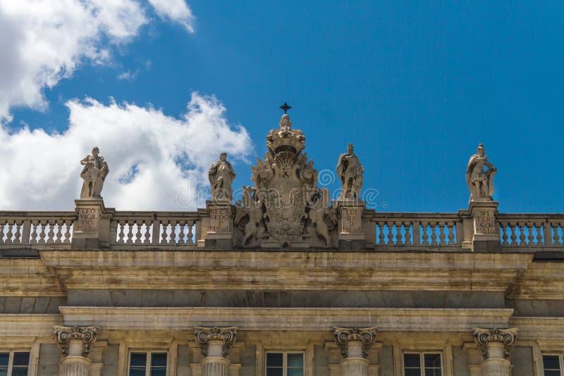 Żakiet ręki dekoracja Royal Palace, Madryt zdjęcie stock