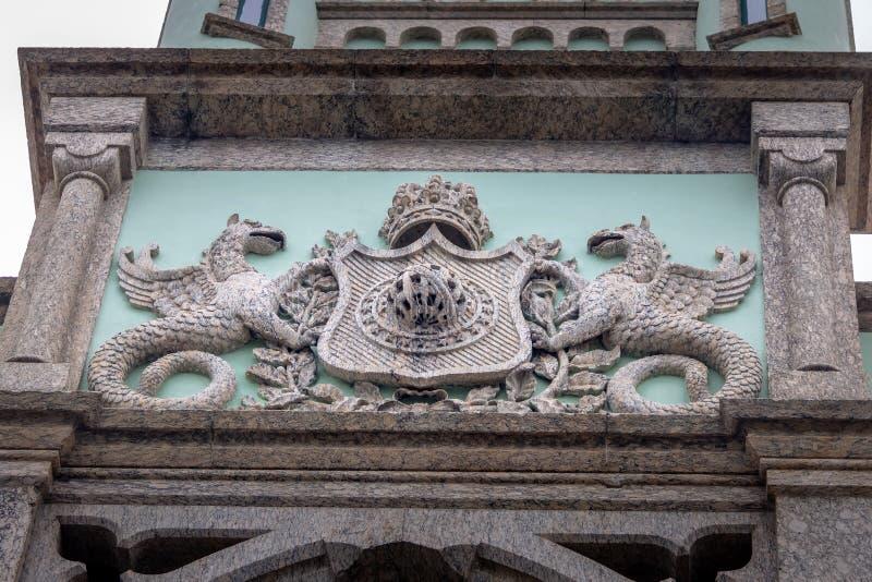 Żakiet ręki Fiskalna wyspa Rio De Janeiro, Brazylia - Ilha Fiskalny pałac w Guanabara zatoce - fotografia royalty free