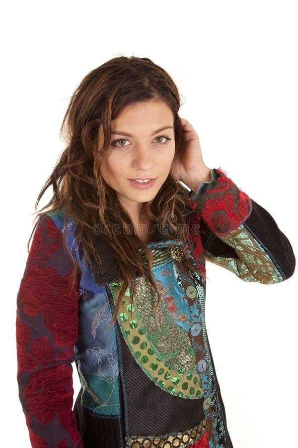 żakieta koloru poważna kobieta zdjęcie stock