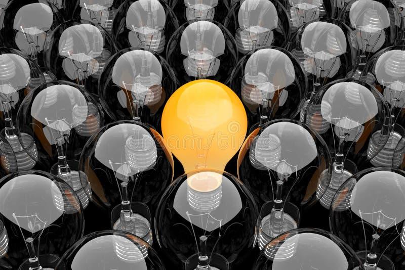 żarówek grupy światło ilustracji