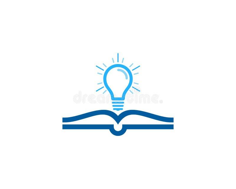 Żarówka loga ikony Książkowy projekt ilustracja wektor