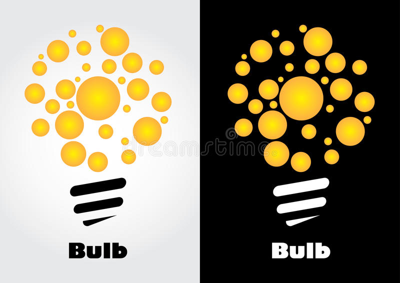 Żarówka Logo ilustracji