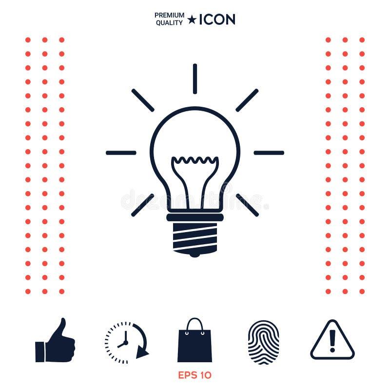 Żarówka - nowi pomysły ilustracji