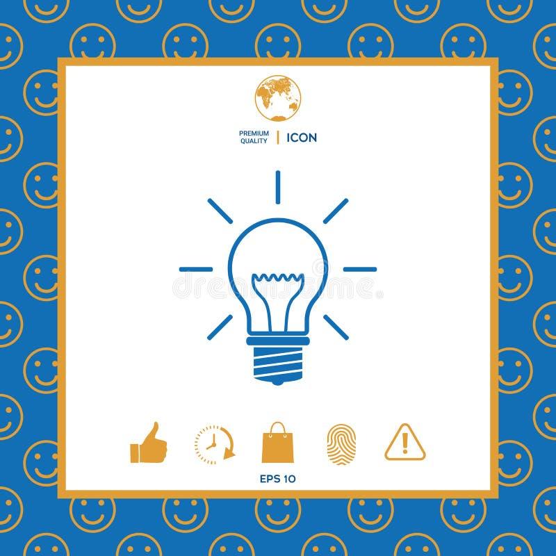 Żarówka - nowi pomysły royalty ilustracja