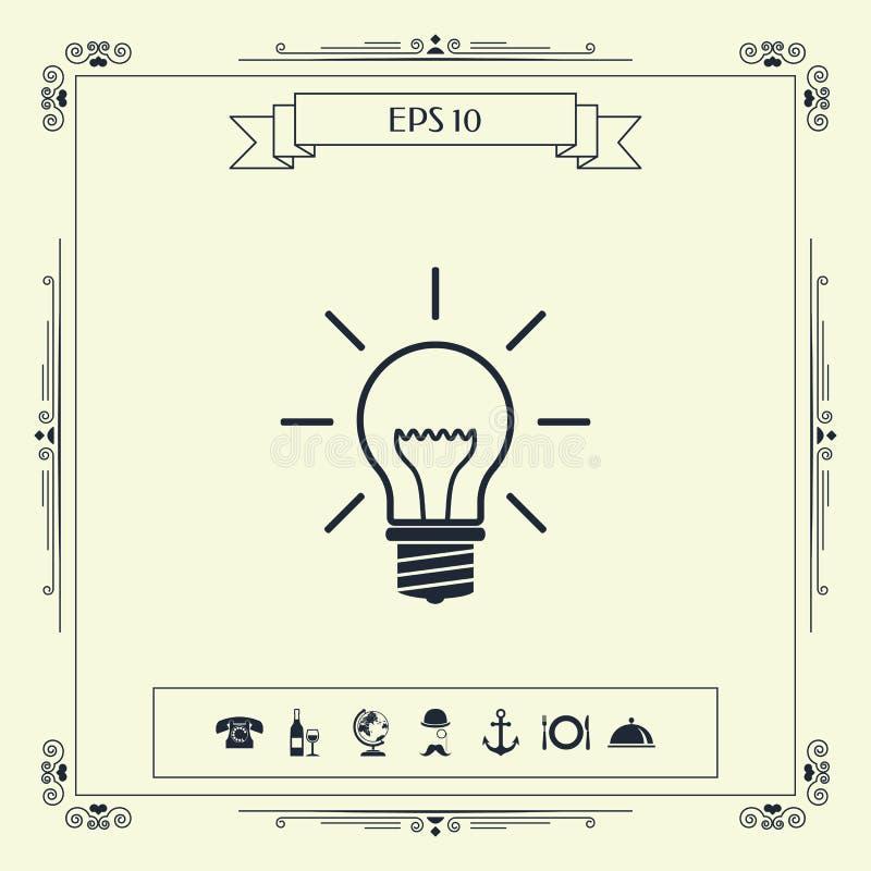 Żarówka - nowi pomysły ilustracja wektor